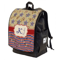 Vintage Stars & Stripes Backpack w/ Front Flap  (Personalized)