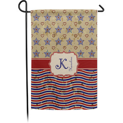 Vintage Stars & Stripes Garden Flag - Single or Double Sided (Personalized)