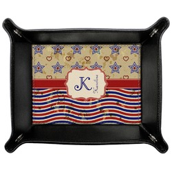 Vintage Stars & Stripes Genuine Leather Valet Tray (Personalized)