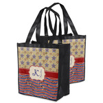 Vintage Stars & Stripes Grocery Bag (Personalized)