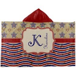 Vintage Stars & Stripes Kids Hooded Towel (Personalized)
