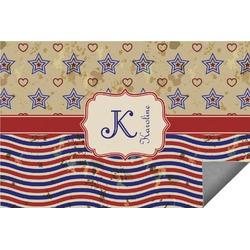 Vintage Stars & Stripes Indoor / Outdoor Rug (Personalized)