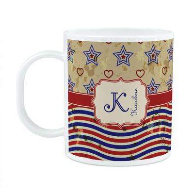 Vintage Stars & Stripes Plastic Kids Mug (Personalized)