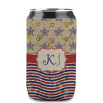 Vintage Stars & Stripes Can Sleeve (12 oz) (Personalized)