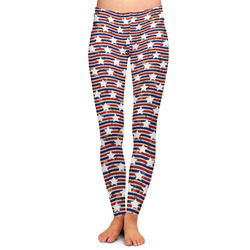 Vintage Stars & Stripes Ladies Leggings - Large (Personalized)