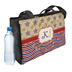 Vintage Stars & Stripes Ladies Workout Bag (Personalized)