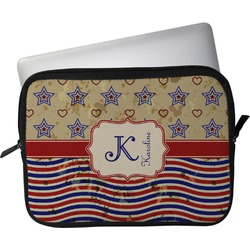 "Vintage Stars & Stripes Laptop Sleeve / Case - 13"" (Personalized)"