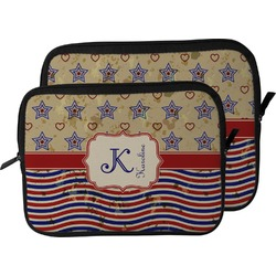 Vintage Stars & Stripes Laptop Sleeve / Case (Personalized)