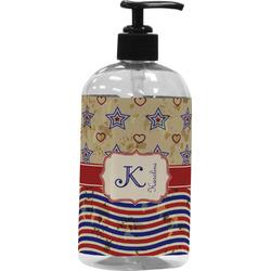 Vintage Stars & Stripes Plastic Soap / Lotion Dispenser (Personalized)
