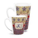Vintage Stars & Stripes Latte Mug (Personalized)