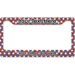Vintage Stars & Stripes License Plate Frame (Personalized)
