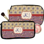 Vintage Stars & Stripes Makeup / Cosmetic Bag (Personalized)