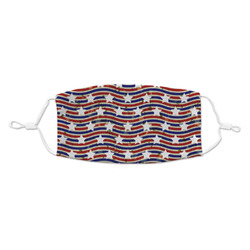 Vintage Stars & Stripes Kid's Cloth Face Mask (Personalized)