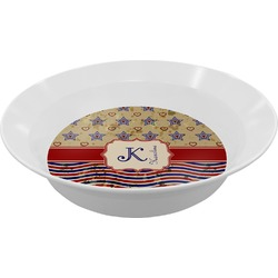Vintage Stars & Stripes Melamine Bowl (Personalized)