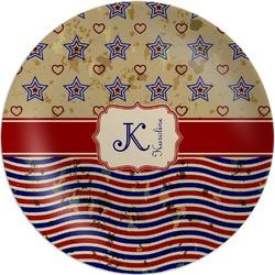 Vintage Stars & Stripes Melamine Plate (Personalized)