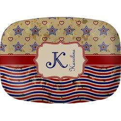 Vintage Stars & Stripes Melamine Platter (Personalized)