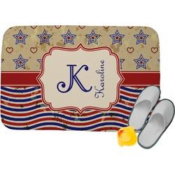 Vintage Stars & Stripes Memory Foam Bath Mat (Personalized)