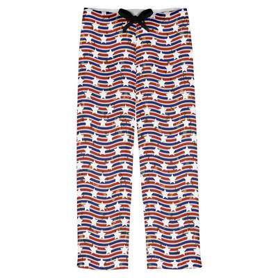 Vintage Stars & Stripes Mens Pajama Pants (Personalized)