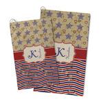 Vintage Stars & Stripes Microfiber Golf Towel (Personalized)