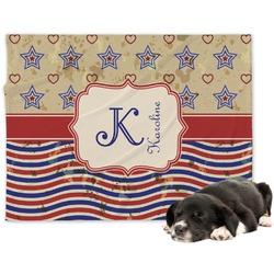 Vintage Stars & Stripes Minky Dog Blanket (Personalized)