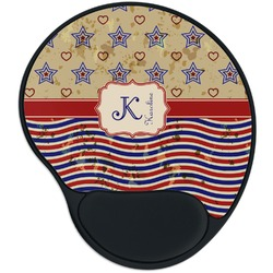 Vintage Stars & Stripes Mouse Pad with Wrist Support