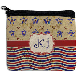 Vintage Stars & Stripes Rectangular Coin Purse (Personalized)