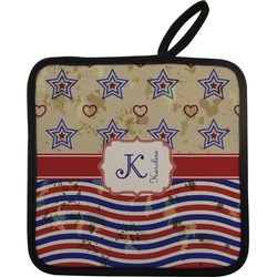 Vintage Stars & Stripes Pot Holder (Personalized)