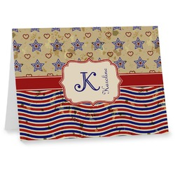 Vintage Stars & Stripes Notecards (Personalized)