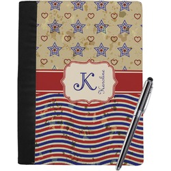Vintage Stars & Stripes Notebook Padfolio (Personalized)