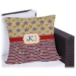 Vintage Stars & Stripes Outdoor Pillow (Personalized)
