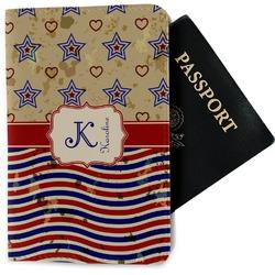 Vintage Stars & Stripes Passport Holder - Fabric (Personalized)
