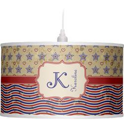 Vintage Stars & Stripes Drum Pendant Lamp (Personalized)