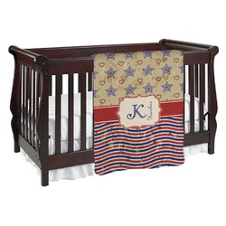 Vintage Stars & Stripes Baby Blanket (Personalized)