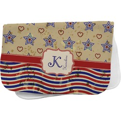 Vintage Stars & Stripes Burp Cloth (Personalized)