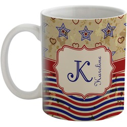 Vintage Stars & Stripes Coffee Mug (Personalized)