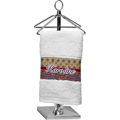 Vintage Stars & Stripes Cotton Finger Tip Towel (Personalized)