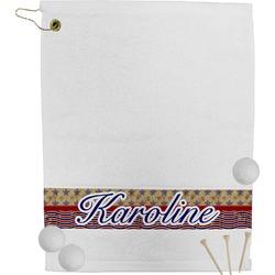 Vintage Stars & Stripes Golf Towel (Personalized)