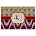 Vintage Stars & Stripes Laminated Placemat w/ Name and Initial