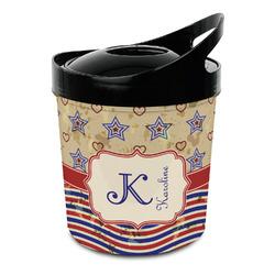 Vintage Stars & Stripes Plastic Ice Bucket (Personalized)