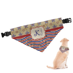 Vintage Stars & Stripes Dog Bandana - Large (Personalized)