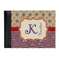 Vintage Stars & Stripes Genuine Leather Guest Book (Personalized)