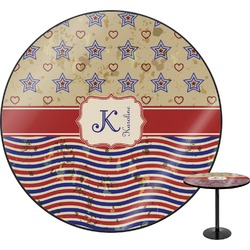Vintage Stars & Stripes Round Table (Personalized)