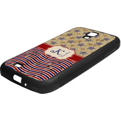 Vintage Stars & Stripes Rubber Samsung Galaxy 4 Phone Case (Personalized)