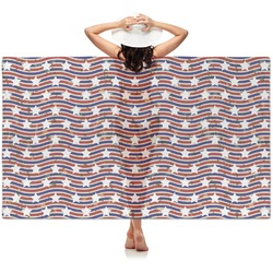 Vintage Stars & Stripes Sheer Sarong (Personalized)