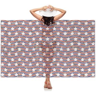 Vintage Stars & Stripes Sheer Sarong (Personalized)