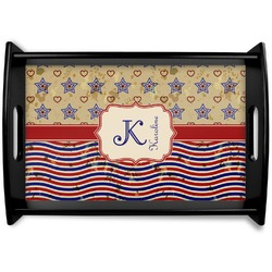 Vintage Stars & Stripes Wooden Trays (Personalized)
