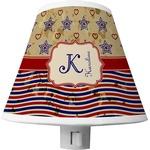 Vintage Stars & Stripes Shade Night Light (Personalized)