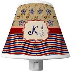 Vintage Stars & Stripes Shade Night Light (Personalized)