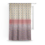 Vintage Stars & Stripes Sheer Curtains (Personalized)