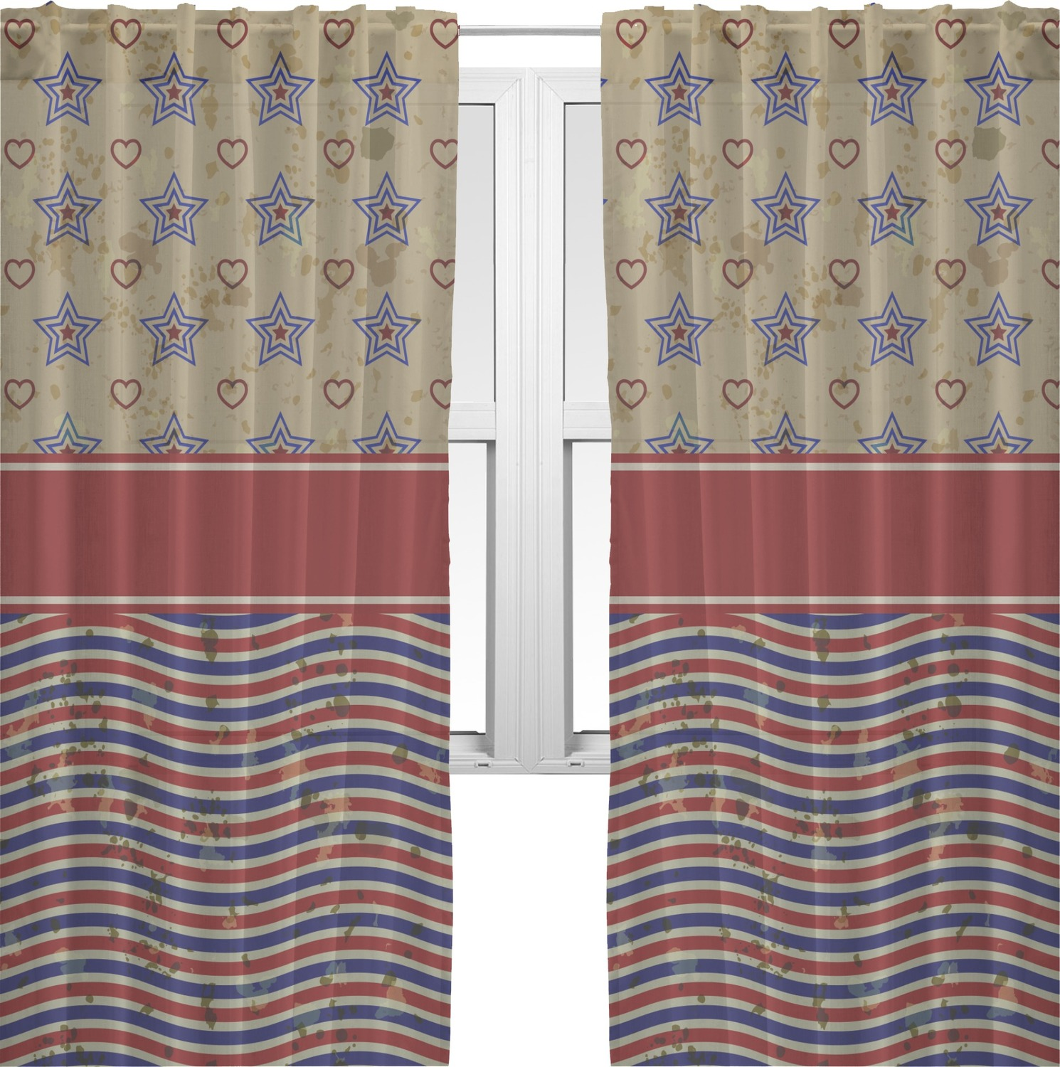 Stars And Stripes Curtains Best Home Design 2018